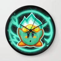 kirby Wall Clocks featuring Kirby Plasma by likelikes