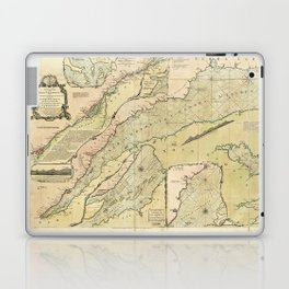 Map of the Saint Lawrence River (1771) Laptop & iPad Skin