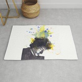 Portrait of Bob Dylan in Color Splash Rug