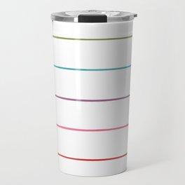 Horizontal Rainbow Stripes Travel Mug