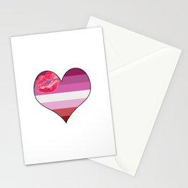 Lipstick Lesbian Heart Stationery Cards