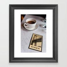 New York Diner Framed Art Print