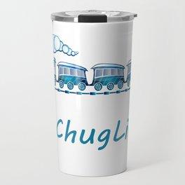 #ChugLife Blue Train Travel Mug