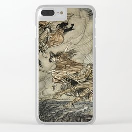 """Four Witches """"Up The Chimney"""" by Arthur Rackam Clear iPhone Case"""