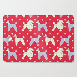 Oodles 'n' Oodles o' Periwinkle Polka Poodles Pattern Cutting Board