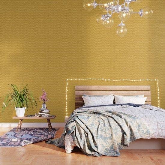 Raindrop Abstract Boho Pattern, Yellow by meganmorrisart