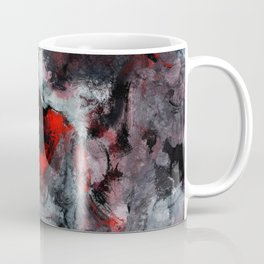 Red and Black Minimalist Abstract Painting Coffee Mug