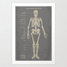 Skeleton Art Print