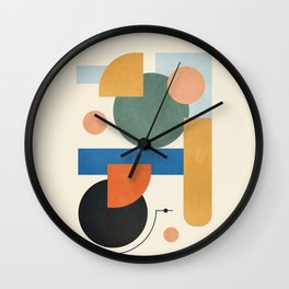 Geometric Color Play 01 Wall Clock