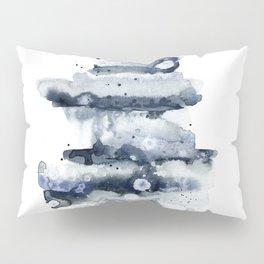Indigo Abstract Watercolor No.1 Pillow Sham