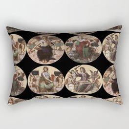 """Raffaello Sanzio da Urbino """"Ceiling of the Stanza della Segnatura"""", 1508-1511 Rectangular Pillow"""