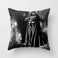 vader Throw Pillows featuring Vader by Saundra Myles