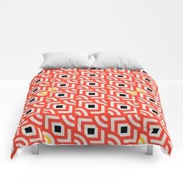 Round Pegs Square Pegs Red-Orange Comforters