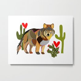 Wolf Endangered Mexican Gray Wolf Metal Print