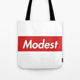 Modest (Supreme) Tote Bag