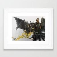 larry Framed Art Prints featuring Larry by NemiimeN
