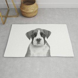 German Boxer Puppy Rug
