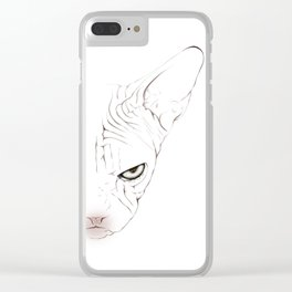 Sphynxcat digital drawing Clear iPhone Case