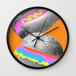 Playful Food Wall Clock