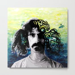 Psychedelic Frank Zappa Portrait Metal Print