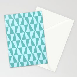 Mid Century Modern Geometric 312 Blue and Green Stationery Cards