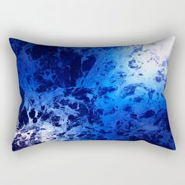 Blue Marble Dream Abstract Rectangular Pillow