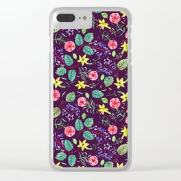 Etno flowers Clear iPhone Case