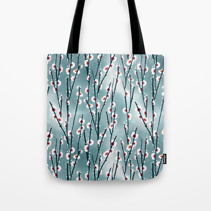 Plum Blossom Branch Pattern Tote Bag