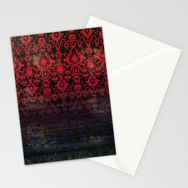 -A12- Red Blue Gardient Colored Moroccan Artwork. Stationery Cards