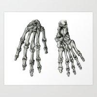 Hand & Foot Art Print