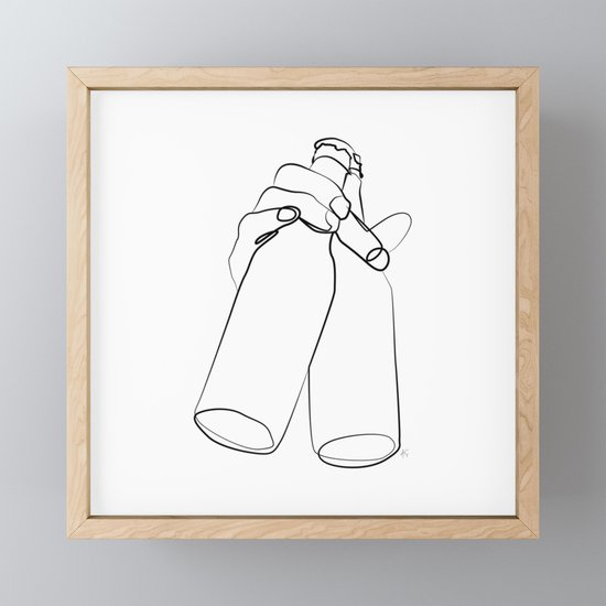 """ Kitchen Collection "" - Hand Holding Two Beer Bottles by aelissedesign"