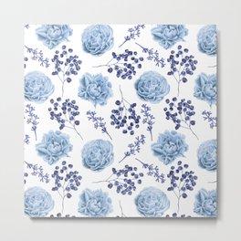 Sky Blue Roses Metal Print