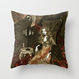 Nightmares of the Alchemist's Wife Throw Pillow