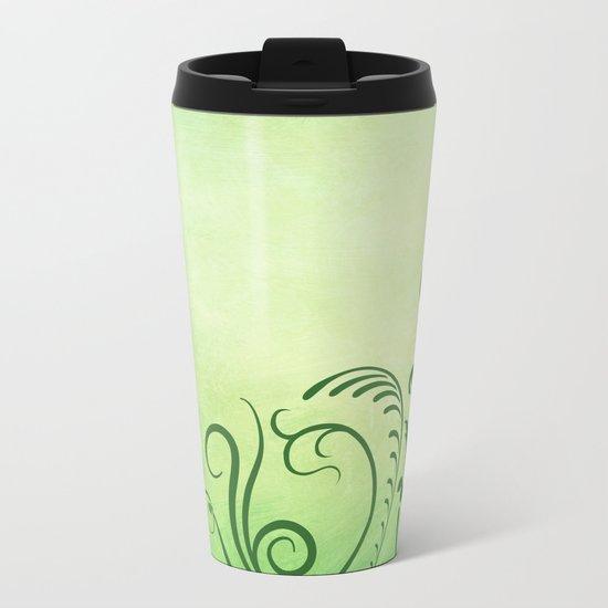 Beautiful greenery Metal Travel Mug