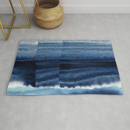 Blue Escape Watercolor Rug