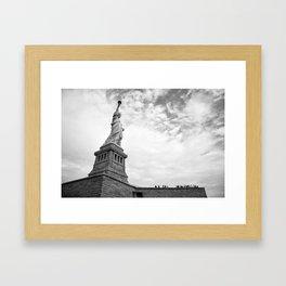 Black and White Liberty Framed Art Print