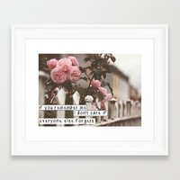 murakami Framed Art Prints featuring If you remember Haruki Murakami by pocketedwords