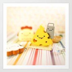 Cheesy Breakfast Art Print