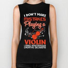 Shirt For Violin Lover. Costume Gift. Biker Tank