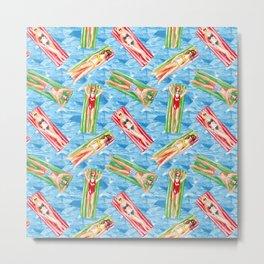 swimmer pool pattern Metal Print