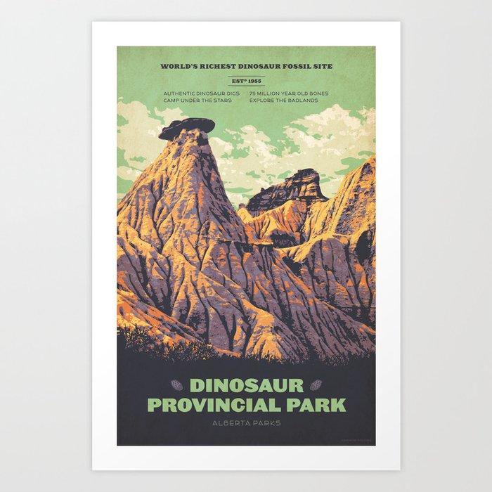 Dinosaur Provincial Park Kunstdrucke