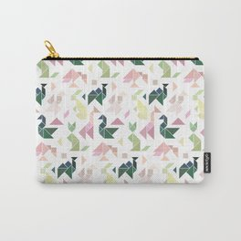 Pastel Tangrams Pattern Carry-All Pouch