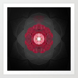 Briar Rose Sacred Geometry Meditation Print Art Print