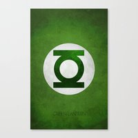 green lantern Canvas Prints featuring Green Lantern by whosyourdeddy