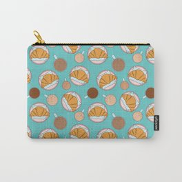 Coffee and croissant pattern Carry-All Pouch