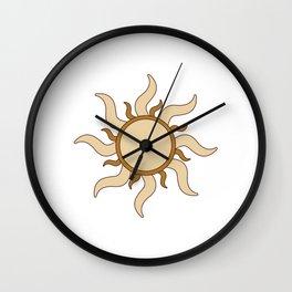Sand Sun Wall Clock