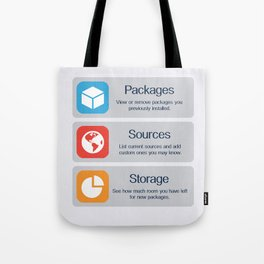 Cydia Manage Tote Bag