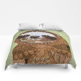 Smiling Sloth Comforters
