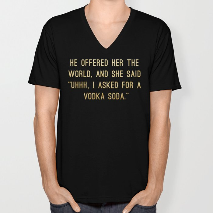 Vodka Soda Unisex V-Neck