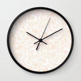Fly EYES - Patterns ORANGE - flowers, floral Wall Clock